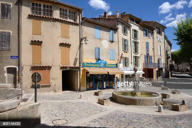 Main Village Square & Fountain Valensole Provence