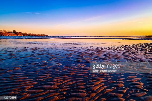 Maine Beach at Sunset