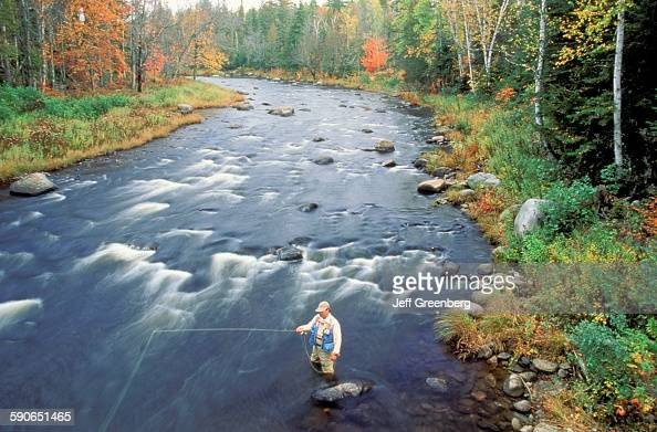Fly fishing in kennebago river pictures getty images for Maine fishing laws 2017