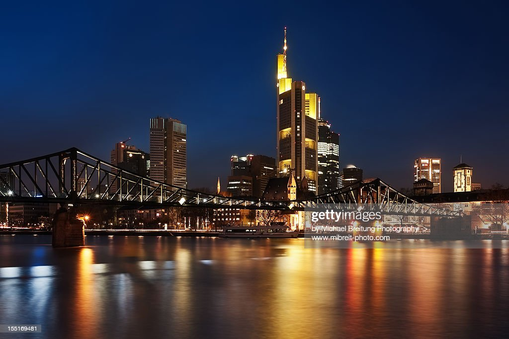 Mainhattan - Frankfurt Skyline : Stock Photo