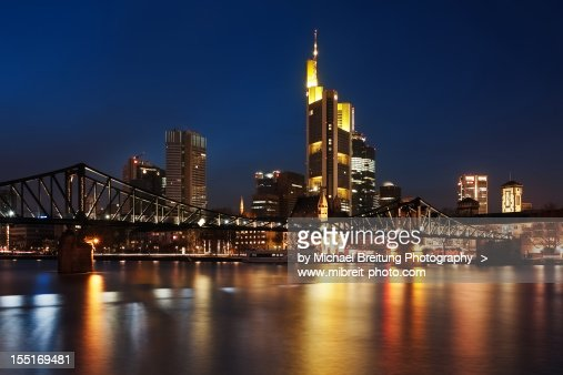 Mainhattan - Frankfurt Skyline : Foto de stock