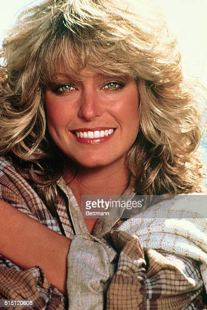Mainly recognized for her role on Charlie's Angels actress and model Farrah Fawcett smiles for the camera