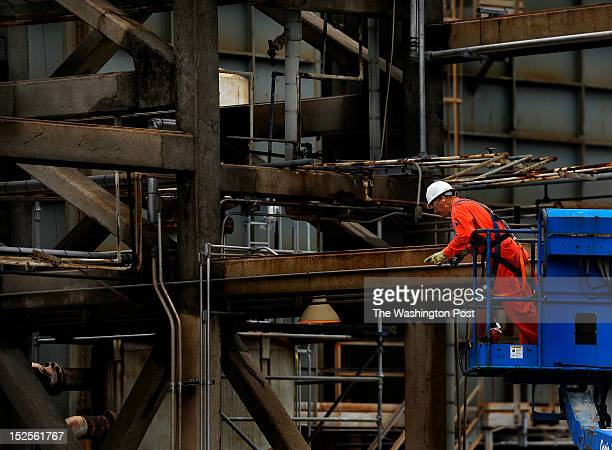 Maintenance work is constant at the Valero refinery in Port Arthur Texas Port Arthur Texas is the end of the line for oil that would travel through...