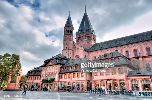 mainz cathedral germany stock photo getty images. Black Bedroom Furniture Sets. Home Design Ideas