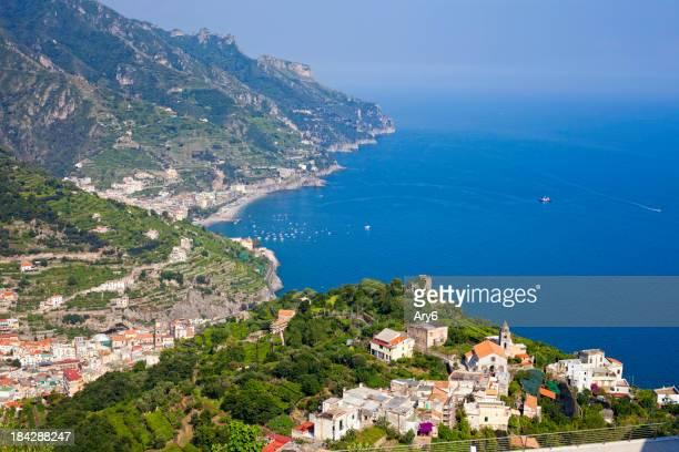Maiori vista dal Ravello (costiera amalfitana, Italia