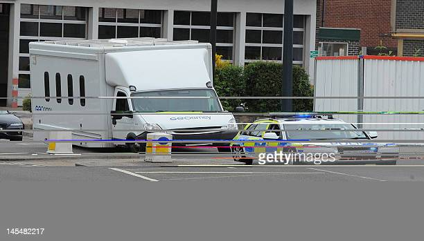 Mairead Philpott is driven away from Southern Derbyshire Magistrates' Court in Derby England on May 31 2012 in a prison van with a police escort...