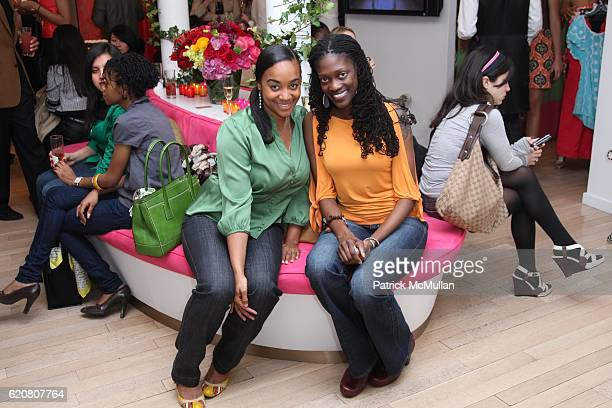 Maisha Fisher and Valerie Kinloch attend TRACY REESE Secret Garden Party at Tracy Reese Boutique on March 27 2008 in New York City