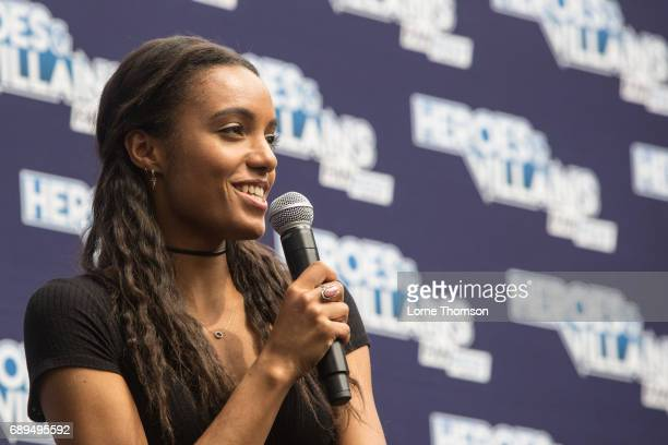 Maisie RichardsonSellers takes part in the Legends Of Tomorrow Panel on day two of Heroes and Villians Convention at Olympia London on May 28 2017 in...