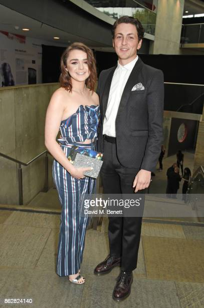 Maisie Williams and Ollie Jackson attend The Q Awards 2017 in association with Absolute Radio at The Roundhouse on October 18 2017 in London England