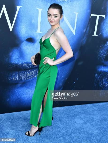Maisie Williams arrives at the Premiere Of HBO's 'Game Of Thrones' Season 7 at Walt Disney Concert Hall on July 12 2017 in Los Angeles California
