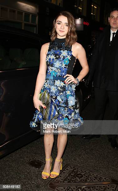 Maisie Williams attending the InStyle EE BAFTA Rising Star Award party on February 4 2016 in London England