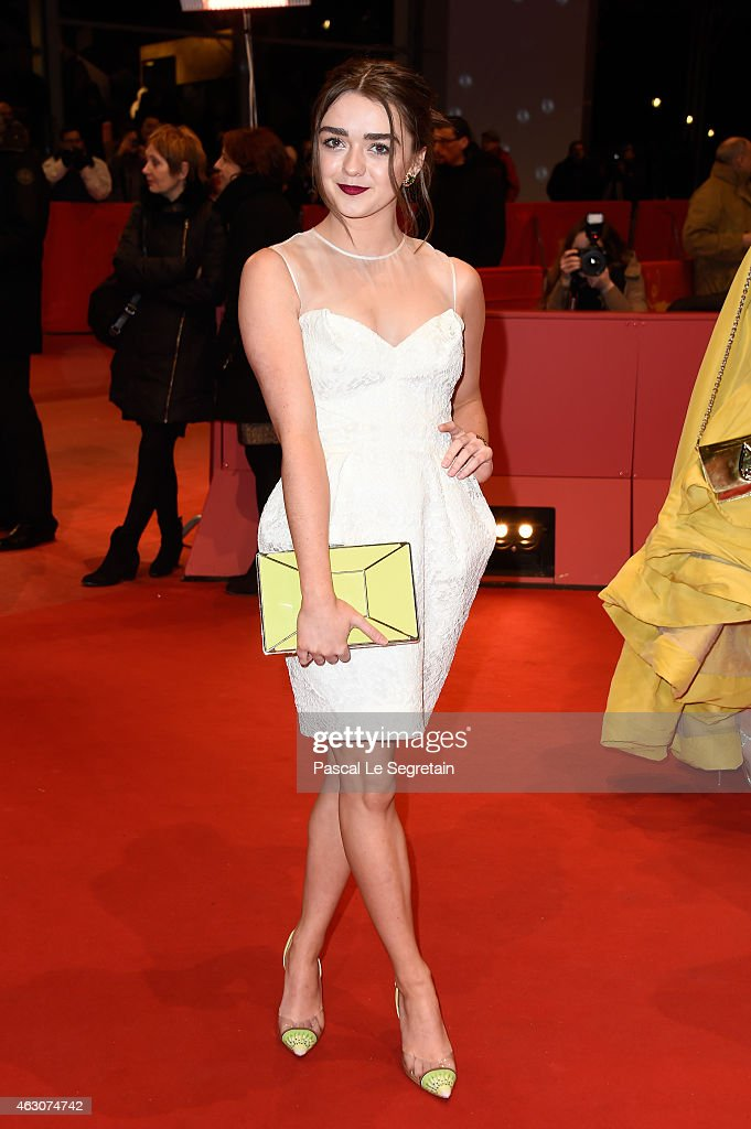 Maisie Williams attends the 'As We Were Dreaming' premiere during the 65th Berlinale International Film Festival at Berlinale Palace on February 9...