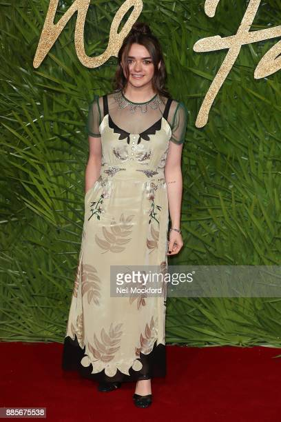 Maisie Williams attends The Fashion Awards 2017 in partnership with Swarovski at Royal Albert Hall on December 4 2017 in London England