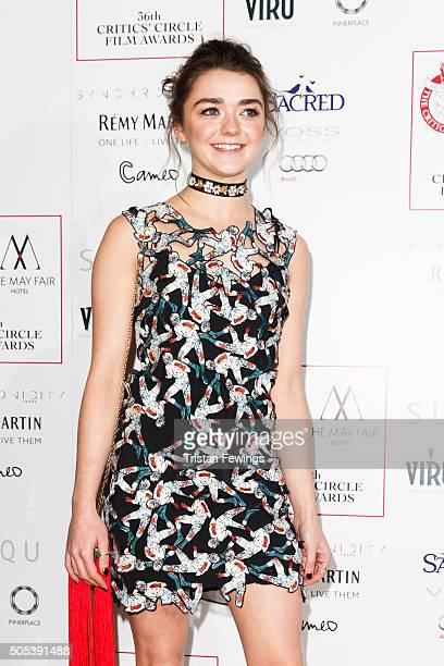 Maisie Williams attends The London Critics' Circle Film Awards at The Mayfair Hotel on January 17 2016 in London England