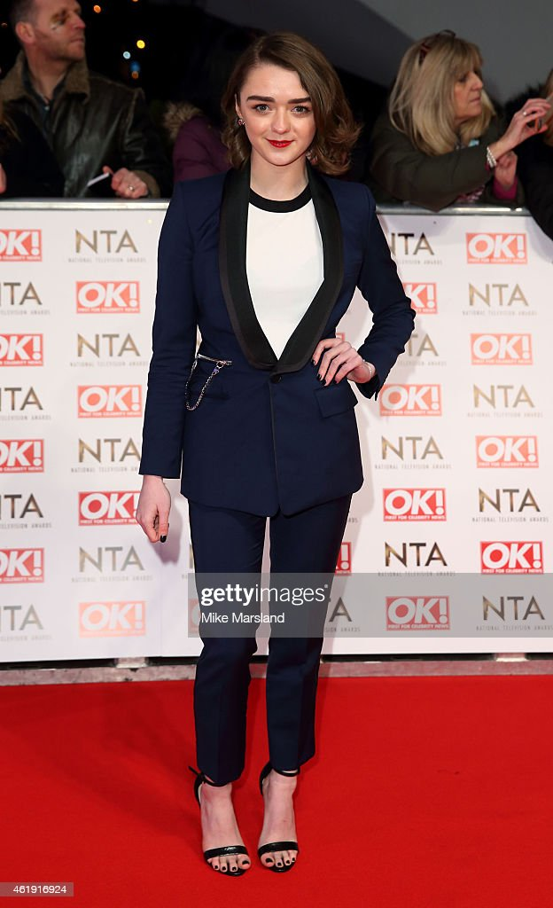 Maisie Williams attends the National Television Awards at 02 Arena on January 21 2015 in London England