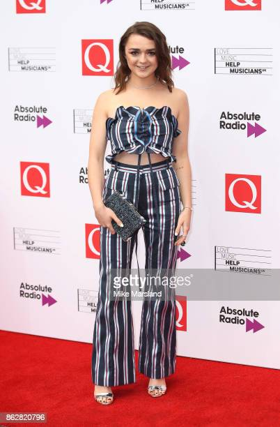 Maisie Williams attends the Q Awards 2017 in association with Absolute Radio at The Roundhouse on October 18 2017 in London England