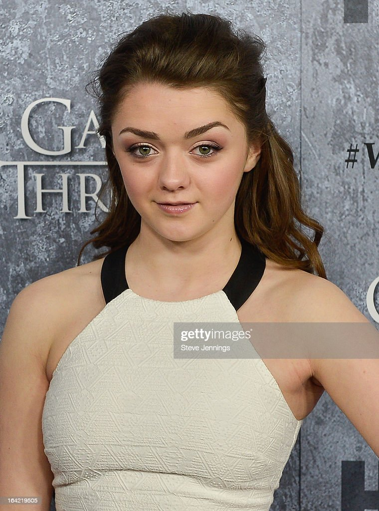 Maisie Williams attends the Season 3 Premiere of HBO's 'Game Of Thrones' at Palace Of Fine Arts Theater on March 20, 2013 in San Francisco, California.