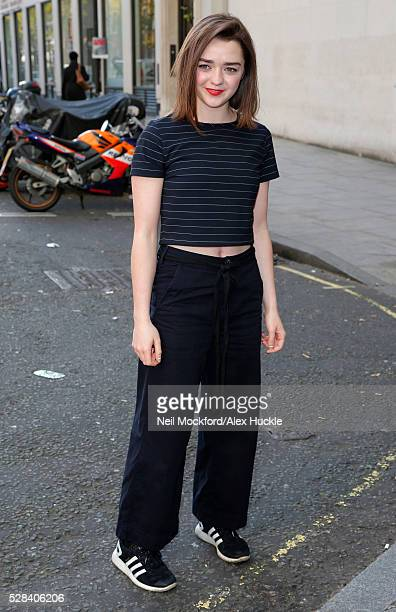 Maisie Williams seen arriving at the BBC Radio 1 Studios on May 5 2016 in London England