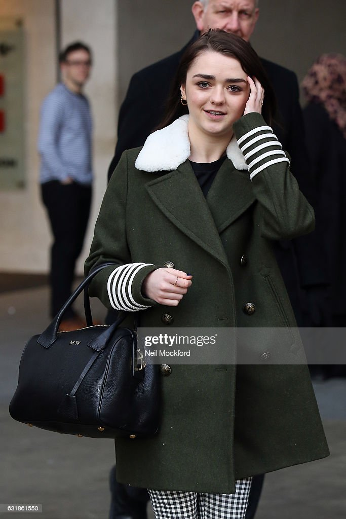 Maisie Williams seen at BBC Radio One promoting new movie 'iBoy' on January 17, 2017 in London, England.