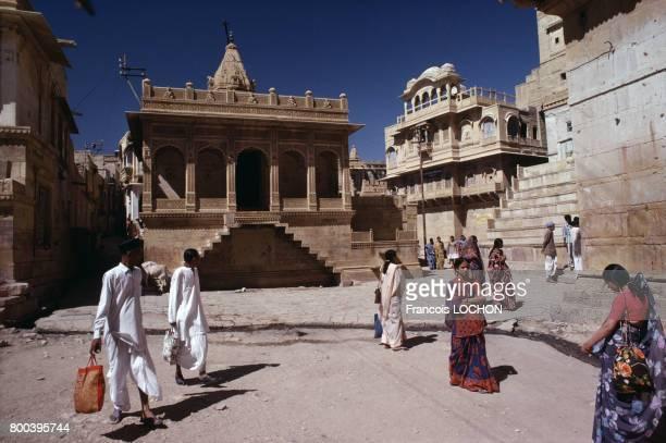 Maison de maître 'havelî' en mars 1977 à Jaisalmer en Inde