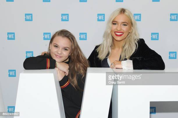 Maisy Jude Marion Stella and Lennon Ray Louise Stella of Lennon Maisy attend the WE Day UN at The Theater at Madison Square Garden on September 20...