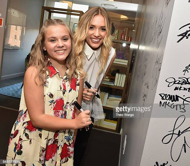 Maisy Stella and Lennon Stella attend the AOL Build Speaker Series Lennon Maisy at AOL Studios In New York on July 6 2016 in New York City