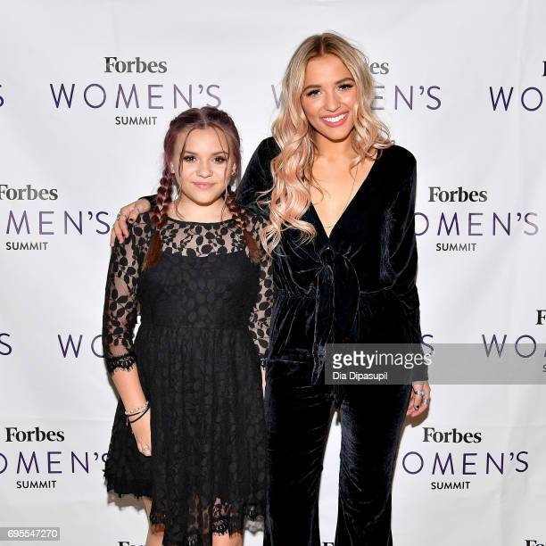 Maisy Stella and Lennon Stella of Lennon Maisy attend the 2017 Forbes Women's Summit at Spring Studios on June 13 2017 in New York City