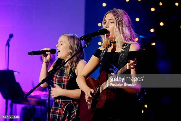Maisy Stella and Lennon Stella perform onstage during Skyville Live Salutes the Magic of Music City on July 13 2016 in Nashville Tennessee