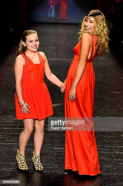 Maisy Stella and Lennon Stella walk the runway at The American Heart Association's Go Red For Women Red Dress Collection 2016 Presented By Macy's at...