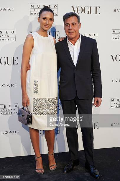 Maite de la Iglesia and Angel Schlesser attend 'Vogue Like a Painting' exhibition at the Thyssen Bornemisza Museum on June 29 2015 in Madrid Spain
