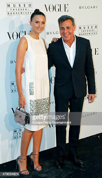 Maite de la Iglesia and Angel Schlesser attend 'Vogue Like a Painting' exhibition at ThyssenBornemisza museum on June 29 2015 in Madrid Spain