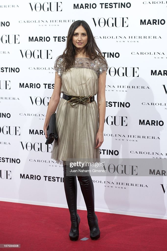 Maite de la Iglesia attends the presentation launch of the Vogue December issue at Fernan Nunez Palace on November 27, 2012 in Madrid, Spain.