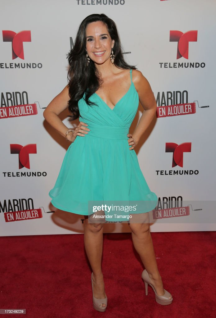 Maite Embil attends Telemundo's 'Marido en Alquiler' Presentation at Telemundo Studios on July 10, 2013 in Miami, Florida.