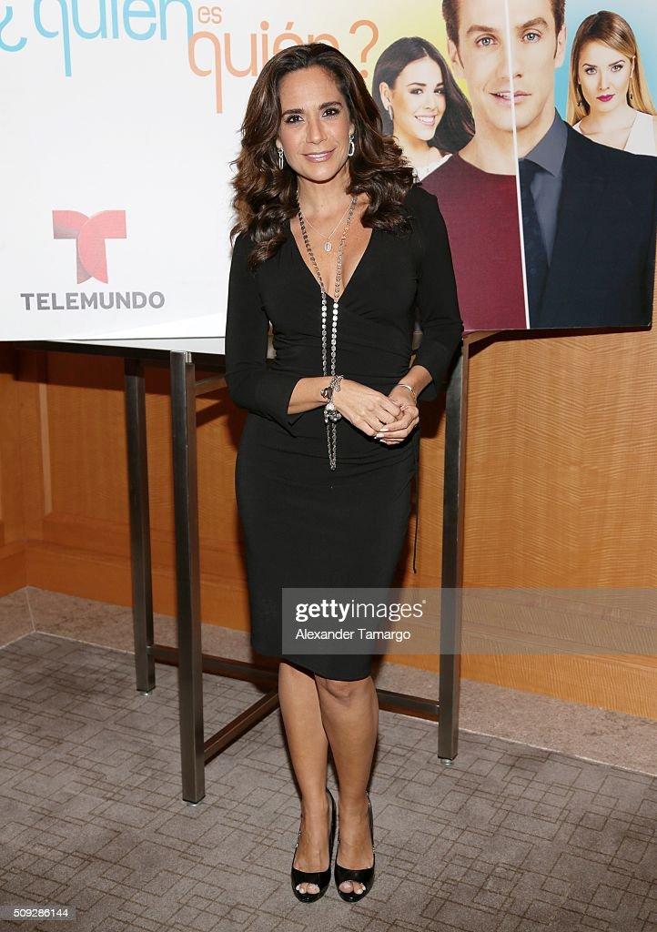Maite Embil is seen at the premier of Telemundo's 'Quien es Quien' at the Four Seasons on February 9, 2016 in Miami, Florida.