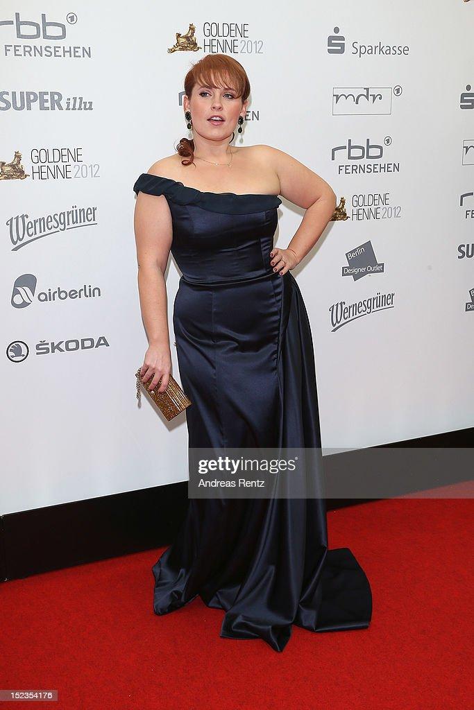 Maite Kelly attends for the 'Goldene Henne' 2012 award on September 19 2012 in Berlin Germany