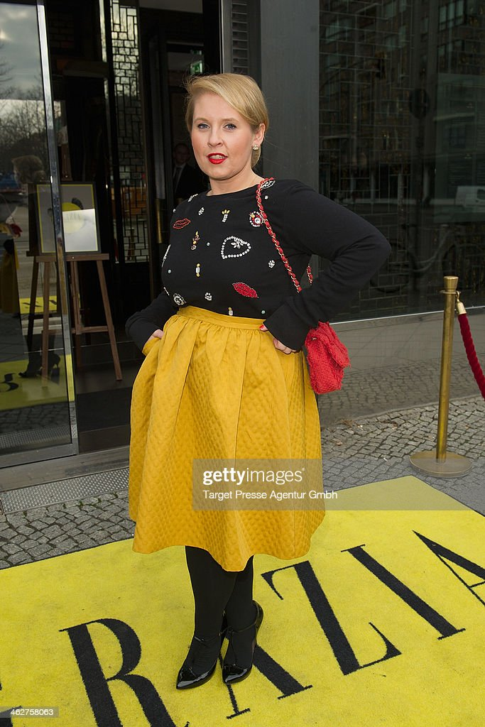 Maite Kelly attends the Grazia Pop Up during Mercedes-Benz Fashion Week Autumn/Winter 2014/15 at Sra Bua Restaurant on January 15, 2014 in Berlin, Germany.