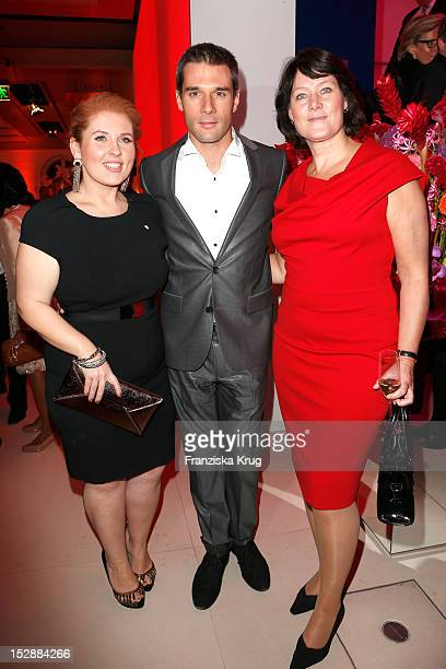Maite Kelly Florent Raimond and Anke Schaeferkordt attends the Bertelsmann Summer Reception on September 27 2012 in Berlin Germany