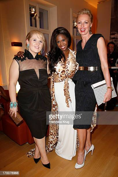 Maite Kelly Motsi Mabuse and Petra van Bremen attend the Bertelsmann Summer Party at the Bertelsmann representative office on June 6 2013 in Berlin...