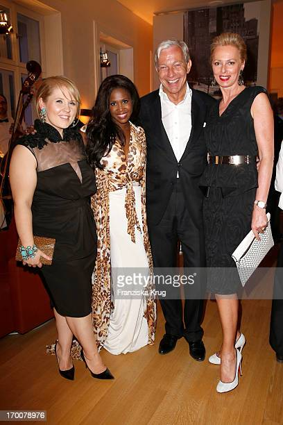 Maite Kelly Motsi Mabuse Jo Groebel and Petra van Bremen attend the Bertelsmann Summer Party at the Bertelsmann representative office on June 6 2013...