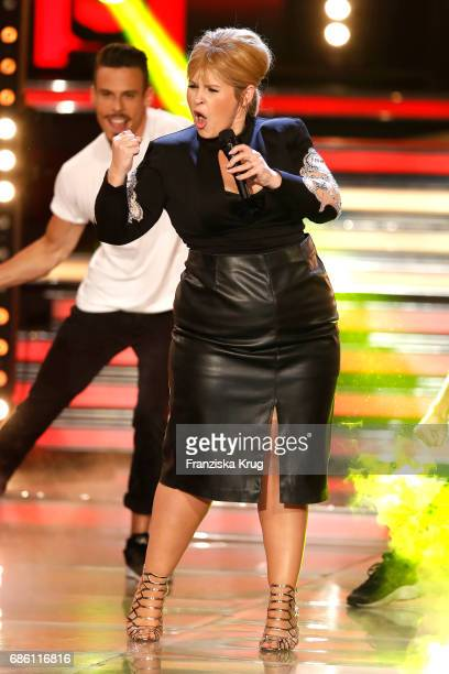 Maite Kelly performs on stage at the tv show 'Willkommen bei Carmen Nebel' at Velodrom on May 20 2017 in Berlin Germany