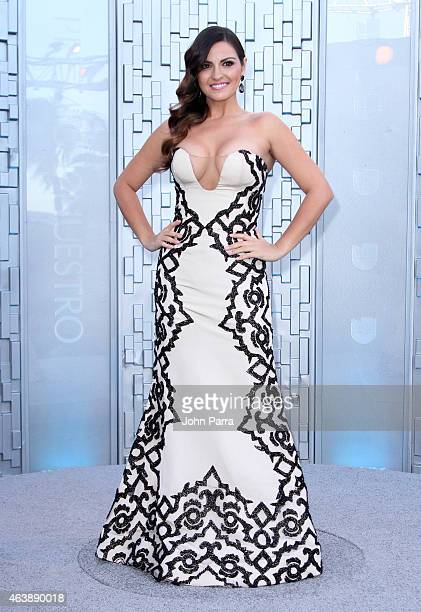 Maite Perroni attends the 2015 Premios Lo Nuestros Awards at American Airlines Arena on February 19 2015 in Miami Florida