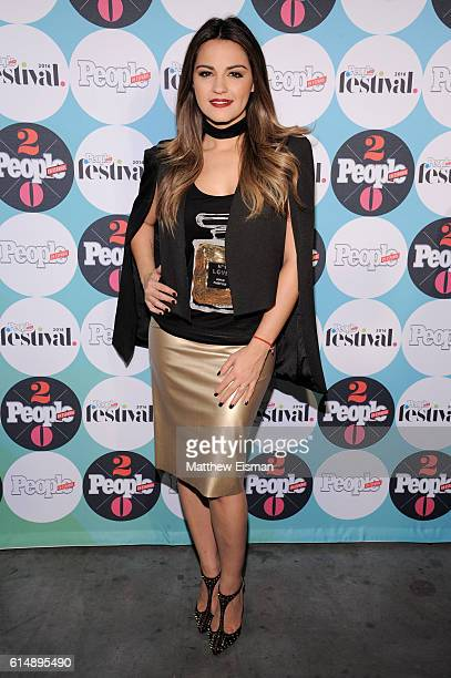 Maite Perroni attends the 5th Annual Festival PEOPLE En Espanol Day 1 at the Jacob Javitz Center on October 15 2016 in New York City