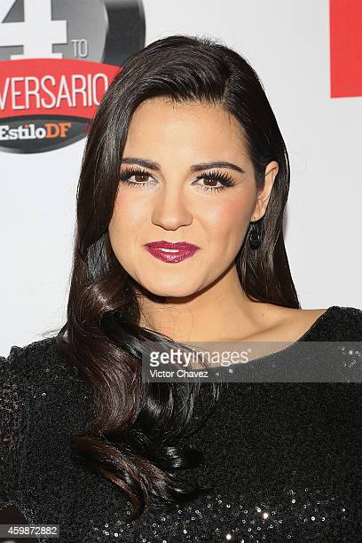 Maite Perroni attends the EstiloDF 4th Anniversary at Aqua Bosques hotel on December 2 2014 in Mexico City Mexico