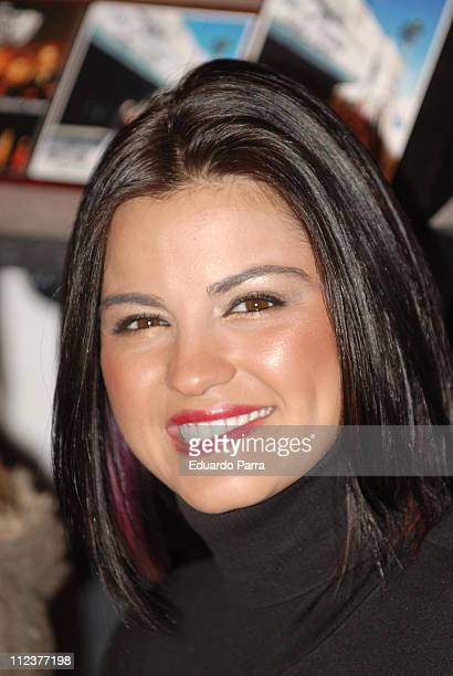 Maite Perroni of RBD during RBD Press Conference in Madrid January 8 2007 at Palace Hotel in Madrid Spain