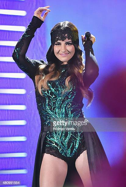 Maite Perroni onstage at Univision's Premios Juventud 2015 at Bank United Center on July 16 2015 in Miami Florida