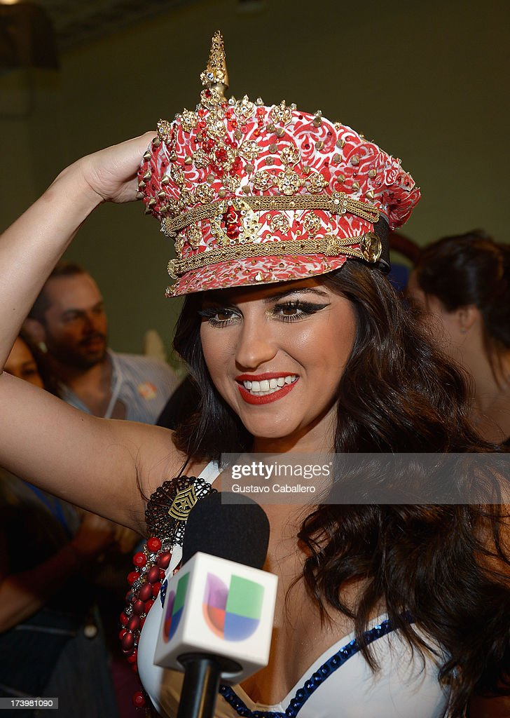 <a gi-track='captionPersonalityLinkClicked' href=/galleries/search?phrase=Maite+Perroni&family=editorial&specificpeople=4080362 ng-click='$event.stopPropagation()'>Maite Perroni</a> poses backstage during the Premios Juventud 2013 at Bank United Center on July 18, 2013 in Miami, Florida.
