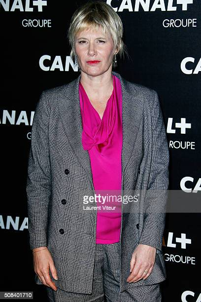 Maitena Biraben attends the 'Canal Animators' Party At Manko on February 3 2016 in Paris France