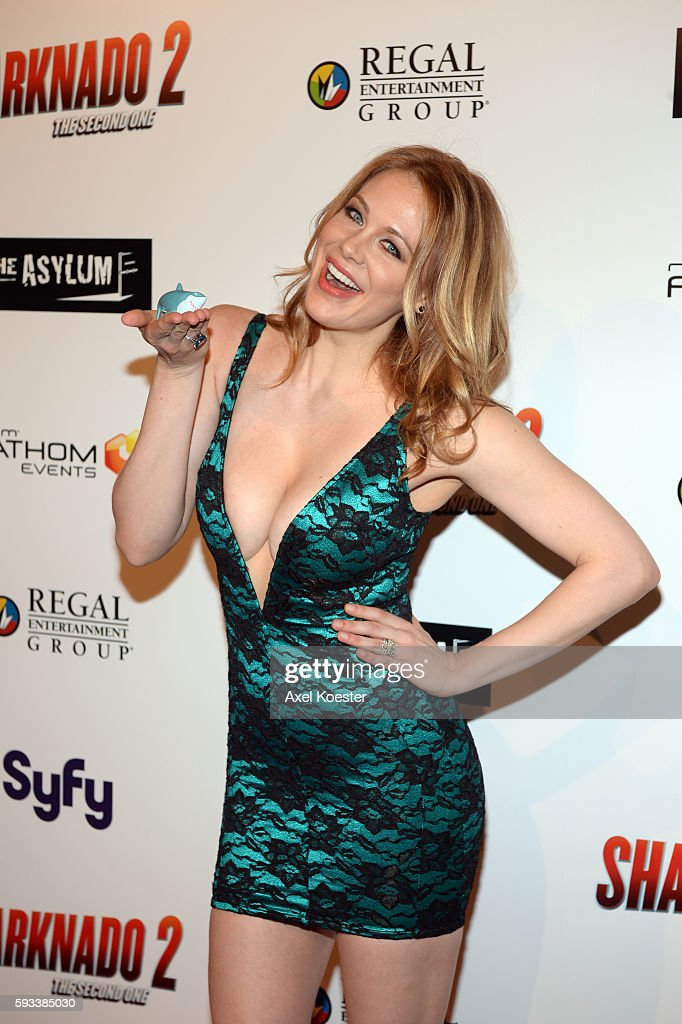 Maitland Ward arrives to the premiere of Sharknado 2 The Second One held at the Regal Cinemas at LA Live Thursday evening
