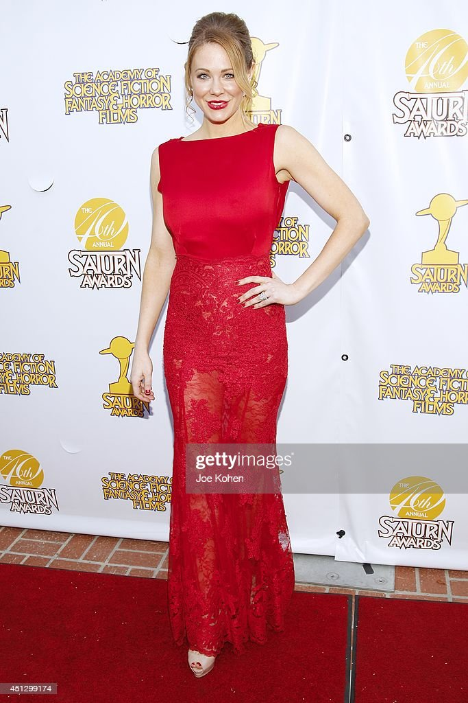 <a gi-track='captionPersonalityLinkClicked' href=/galleries/search?phrase=Maitland+Ward&family=editorial&specificpeople=2850630 ng-click='$event.stopPropagation()'>Maitland Ward</a> attends the 40th Annual Saturn Awards at The Castaway on June 26, 2014 in Burbank, California.