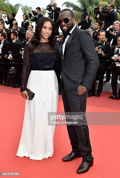 Maitre Gims and his wife DemDem attend 'The BFG ' premiere during the 69th annual Cannes Film Festival at the Palais des Festivals on May 14 2016 in...